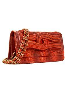ELYSE & I BY CHEET LONDON Suki Snakeskin - burnt orange Handbag - HBD101