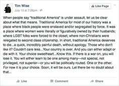 """Traditional America"" Tim Wise"