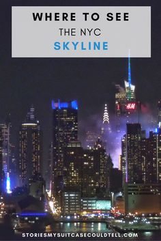 The NYC skyline is one of the world's famous - and I've found the 10 best spots to see it from! Visit the blog to see them all, or save for Big Apple travel planning later...