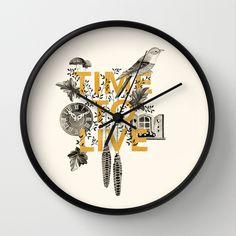 Time to live Wall Clock by Valesca van Waveren