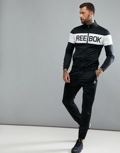 d65004458c85 Image 1 of Reebok Training tracksuit in black bq5736 Gym Outfit Men