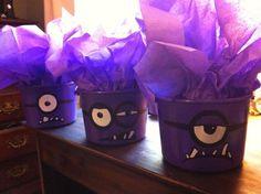 Minion Party Favors | Evil purple minion party favors.