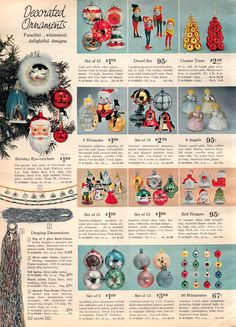1962 Sears Christmas Book-So Cool! 1950s Christmas, Vintage Christmas Images, Old Christmas, Old Fashioned Christmas, Antique Christmas, Vintage Christmas Ornaments, Christmas Books, Vintage Holiday, Christmas Holidays