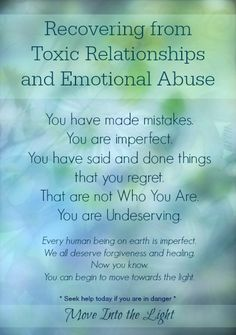 We've all made mistakes.... (Recovering from Toxic Relationships and Emotional Abuse)