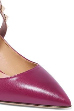 Valentino - Studwrap Leather Pumps - Purple