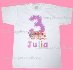 Lalaloopsy Number Birthday Shirt/Onesie  by CustomizeEverything, $12.00