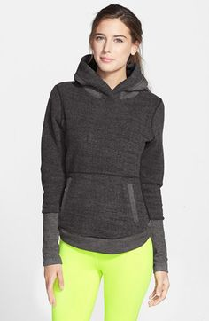 Free shipping and returns on Alo 'Shelter' Hoodie at Nordstrom.com. A paneled construction, relaxed shape and fitted sleeves offer an elegant range of motion in this supersoft color-blocked hoodie that looks great from home to yoga studio.