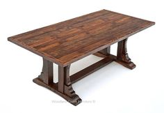 This beautiful oak barn wood dining table starts with natural aged barn wood that is over 100 years old. Barns throughout the Midwest were made with a variety of wood species including hemlock, pine, oak, ash, and beech. As the barns are taken down the wood is reclaimed and sorted putting the hard to find