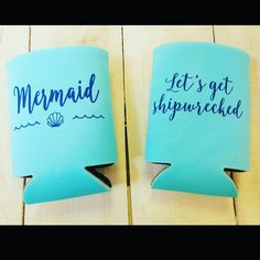 Mermaid and Pirate Koozie