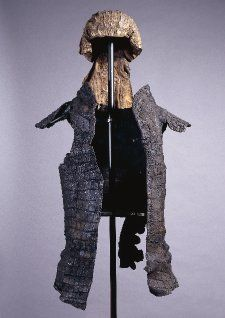 Parade armour, crocodile skin, Egypt, 200-400, Roman. Word by soldiers in cult processions.