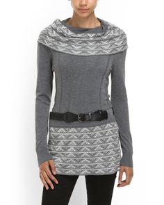 Carducci Cowl Neck Tunic Sweater <3