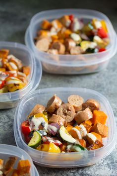Make these turkey sausage and sweet potato lunch bowls on the weekend and you have your work lunches ready for four days!
