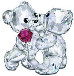 Swarovski Crystal Figurine Kris Bear ''A Rose For You'' # 5076625 New – Zhannel