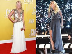 Sparkling gowns, hot pants, tutus: The CMA Awards host has worn it all over the past 11 years Carrie Underwood Cma, Macy Gray, Grey Artist, Country Music Awards, Cma Awards, Beautiful Blouses, Hot Pants, Tutu, Gowns