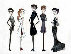 Tim Burton Style Sherlock Characters