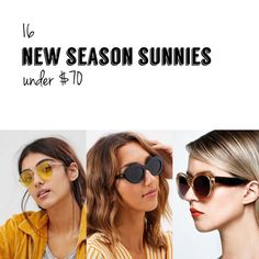 16 New Season Sunglasses Under $70