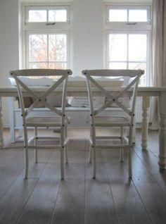 White on white dining