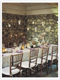 Enchanted Garden Malibu Wedding by Alchemy Fine Events www.alchemyfineevents.com at Stone Manor  wedding reception, hanging votives, tablescape, rustic, damask linens, romantic flowers, mirror table numbers, gold votives