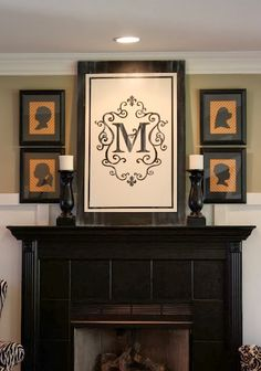maybe not over the mantel but i love the idea of framing one of those bed bath & beyond flags. maybe over bed?