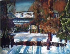 George Bellows Winter Road