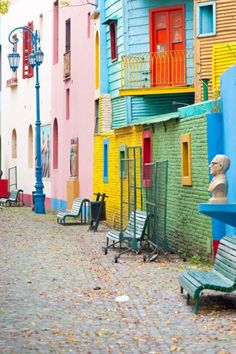 La Baca, Buenos Aires, Argentina  La Boca is one of neighborhood of Buenos Aires, the capital city of Argentina. La Boca is famed for its traditional colorful wooden houses and pedestrian friendly paths. There are many artist colonies in La Boca. They also utilize the colorful wooden houses in La Boca as part of background while they perform different art forms. The Most Colorful Places in the World