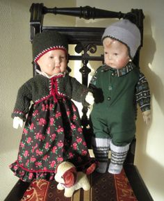 The doll att the rigt side, is a Käthe Kruse doll. The other I don't know for sure. But I think she is cute too.