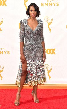 Kerry Washington Is Giving Us Life at the 2015 Emmys in a Glittering, Mesh Marc Jacobs Dress: I Feel the Breeze | E! Online Mobile