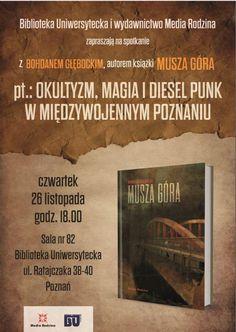 Wieczór autorski Bohdana Głębockiego z promocją książki ''Musza Góra''