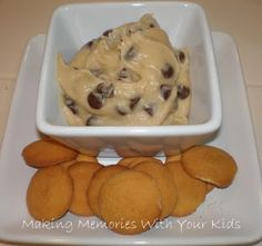 Chocolate Chip Cookie Dough...WARNING: you will eat too much of this, it is THAT good and easy to make!