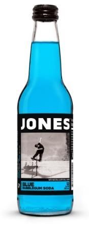 For discerning pallets that can taste the differences between bubble gums. Introducing Blue Bubble Gum soda, the perfect compliment to your party, picnic or brouhaha. Jones Soda believes in strong con