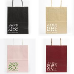 Hotel Wedding Welcome Bags Wedding Favor Typewriter Tote Gift Bag Personalized Foil Stamped Rehearsal Anniversary Bridal Shower Custom Color