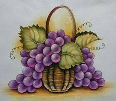 Resultado de imagem para stencil para artesanato PINTURA EM TECIDO FUNDO Fruit Painting, One Stroke Painting, Tole Painting, Fabric Painting, Painting & Drawing, Pinterest Pinturas, Fruit Art, Vintage Flowers, Easy Drawings