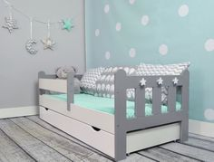 Stanley Toddler Junior Bed Grey White