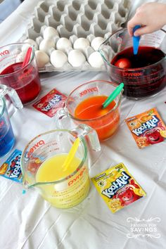 How to dye #easter eggs with Kool-Aid!