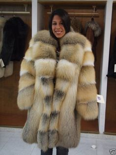 golden island fox fur coat - Google Search