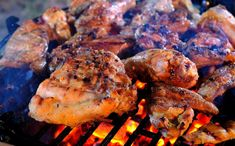 Ingredients of Easy Chicken Barbeque Recipes: 1 kg of non broiler chicken, cut into 8 pieces Seasoning, mix well: 2 tsp grated garlic 2 tsp grated onion 1 Bbq Fried Chicken Recipe, Chicken Bar, Best Bbq Chicken, Lime Chicken, Grilled Chicken, Tandoori Chicken, Chicken Recipes, Mexican Chicken, Smoked Chicken
