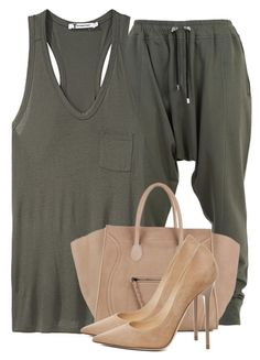 """""""Untitled #2720"""" by xirix ❤ liked on Polyvore featuring Balmain, T By Alexander Wang, CÉLINE and Jimmy Choo"""
