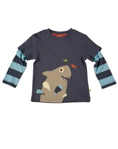 Frugi Boys Indigo Shark Layered Top