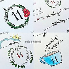 Details_some inspiration for your next monday! _ Dettagli_un po' d'ispirazione per il vostro prossimo lunedì #monday #banner #bulletjournal  #stationary #stationaryaddict #handlettering #calligraphy #handlettered #moderncalligraphy  #midoritravelersnotebook #lettering #font #brushpens #type #letters #filofaxgoodies #planner #planning #planneraddict #plannernerds #plannercommunity #plannersupplies #filomaniac #filofax #plannerlove #bulletjournaljunkies #bulletjournalchallenge #doodle…