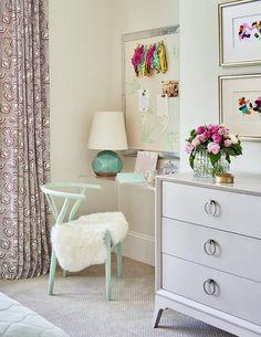 Mint green wishbone chair