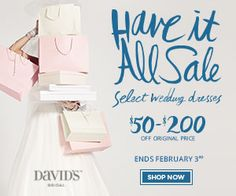 #plussize #bride #curvybrides $50-$200 off Plus Size Wedding Gowns from David's Bridal | Pretty Pear Bride | Get Started Here: http://prettypearbride.com/50-to-200-off-plus-size-wedding-gowns-from-davids-bridal/