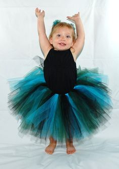 Natural Peacock Tutu  Custom fitted for babies by KenziesTreasures, $16.00