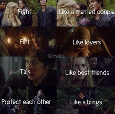 // Bellamy and Clarke // The 100 // Bellarke //