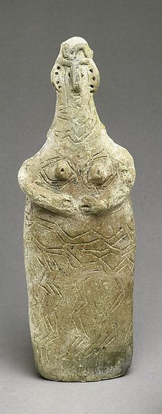 Terracotta plank-shaped figurine Period: Middle Cypriot I Date: ca. 1900–1800 BCE