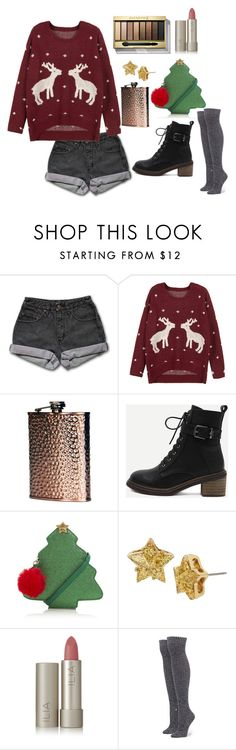 """""""Merry Xmas"""" by disney-geek-forever on Polyvore featuring PèPè, WithChic, George, Betsey Johnson, Ilia, Stance and Max Factor"""