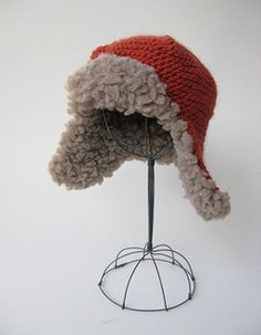 Fleeced Earflap Hat pattern by Julie Weisenberger