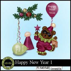 Happy New Year 1 Elements