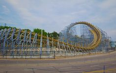 Hades 360 World's First Upside Down Wooden Roller Coaster in WI Dells