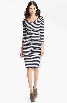 Nicole Miller Stripe Jersey Sheath Dress available at #Nordstrom