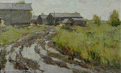 Village Of Zherd - oil, canvas, Yuri Vasendin